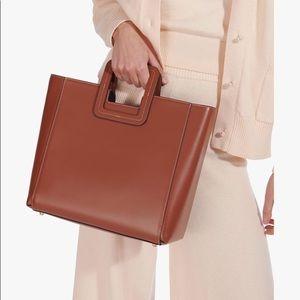 Staud Shirley leather bag saddle